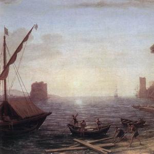Клод Лоррен - Морской порт на восходе