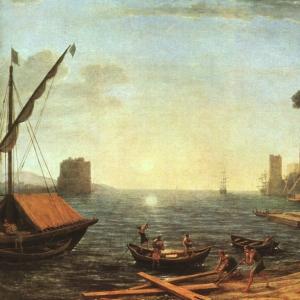 Клод Лоррен - Морская гавань на восходе