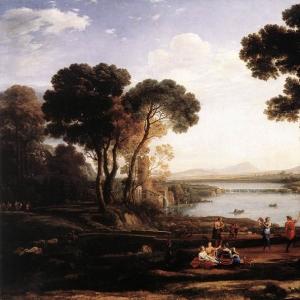 Клод Лоррен - Пейзаж с танцующими фигурами