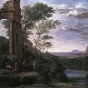 Клод Лоррен - Пейзаж с Асканием, стреляющим в оленя-самца Сильвии