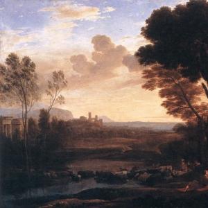 Клод Лоррен - Пейзаж с Парисом и Эноной