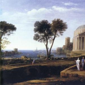 Клод Лоррен - Пейзаж с Энеем на Делосе