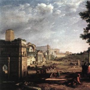 Клод Лоррен - Место вакцинации в Риме (Кампо Ваччино)