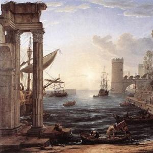 Клод Лоррен - Морской порт и сцена отплытия царицы Савской