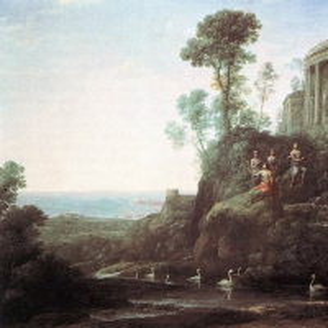 Клод Лоррен - Аполлон и музы на горе Геликон (Парнас)