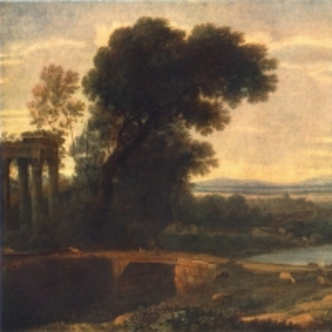 Клод Лоррен - Отдых по пути в Египет на фоне пейзажа, 1666