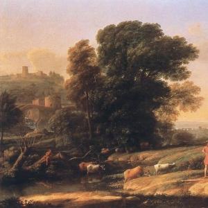 Клод Лоррен - Пейзаж с Кефалом и Прокридой, воссоединившихся с помощью Дианы