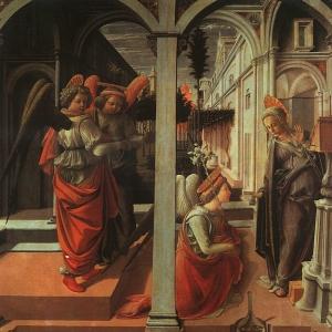 Филиппо Липпи - Благовещение, 1440, Капелла Мартелли
