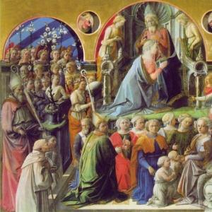 Филиппо Липпи - Коронование Мадонны, 1441-47