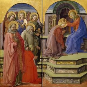 Филиппо Липпи - Коронование Девы Марии (триптих)