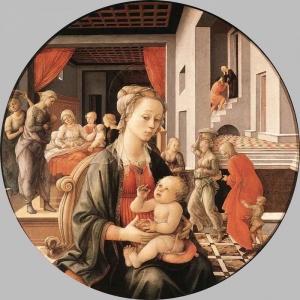 Филиппо Липпи - Мадонна с младенцем и сцены из жизни Св. Анны
