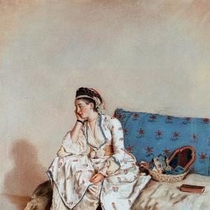 Жан Этьен Лиотар - Портрет девушки