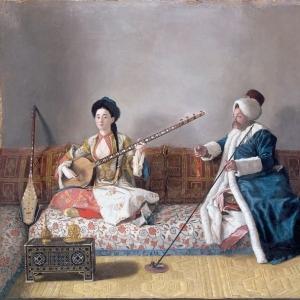 Жан Этьен Лиотар - Мосьё Леветт и мадмуазель Главни в турецких костюмах