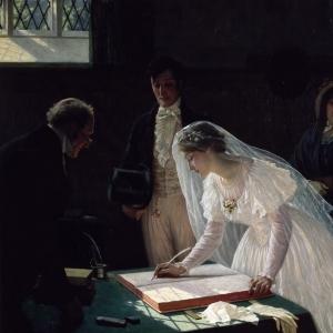 Эдмунд Блэр Лейтон - Регистрация брака