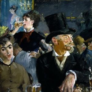 Мане Эдуард - В кафе