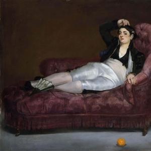 Мане Эдуард - Лежащая молодая женщина