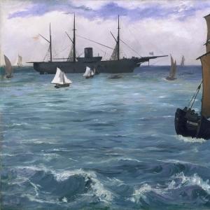 Мане Эдуард - Корабль «Кирсардж» в Булони