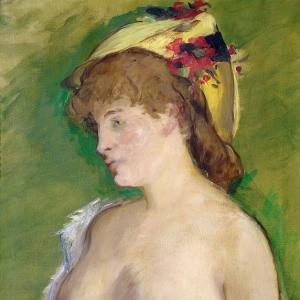 Мане Эдуард - Блондинка с обнаженной грудью