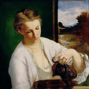 Мане Эдуард - Женщина с кувшином (Портрет мадам Мане)