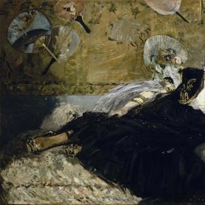 Мане Эдуард - Дама с веерами (Нина де Кальяс)