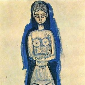 Амедео Модильяни - Кариатида, 1911-12
