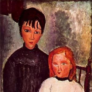 Амедео Модильяни - Двое детей (1918)