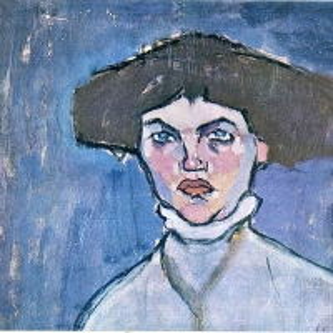 Амедео Модильяни - Голова молодой женщины, 1908