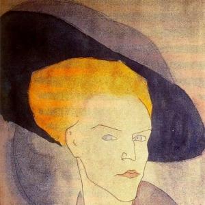 Амедео Модильяни - Голова женщины в шляпе, 1907