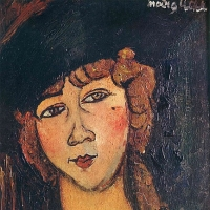 Амедео Модильяни - Женщина в шляпе (Лолотта), 1916