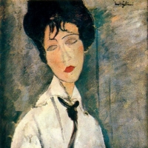 Амедео Модильяни - Дама с черным галстуком, 1917