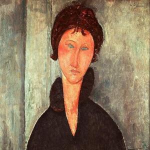 Амедео Модильяни - Женщина с голубыми глазами, Париж