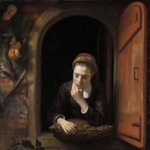 Маес Николас - Девушка у окна или «Задумавшаяся»