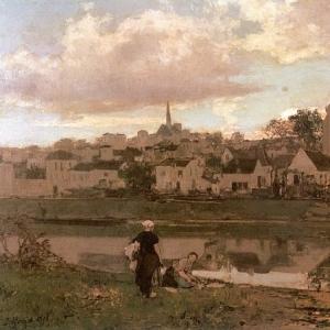 Якоб Марис - Вид на Монтиньи-сюр-Луань