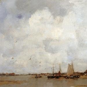 Якоб Марис - Рыбацкие лодки на реке