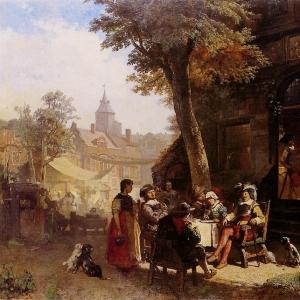 Якоб Марис - Люди перед постоялым двором