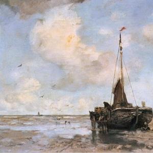 Якоб Марис - Рыбацкая лодка на берегу