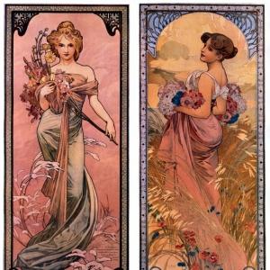 Муха Альфонс Мариа - Времена года, весна-лето, 1899