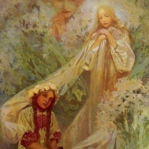 Муха Альфонс Мариа - Мадонна лилий