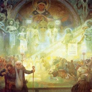 Муха Альфонс Мариа - Картина из цикла -Славянская эпопея-