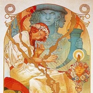 Муха Альфонс Мариа - Афиша к выставке -Славянская эпопея