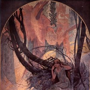 Муха Альфонс Мариа - Пасхальные колокола, пробудившаяся природа, 1896