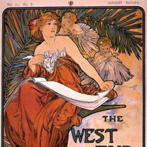 Муха Альфонс Мариа - Обложка журнала WEST END REVIEW, 1898