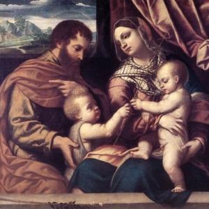 Моретто да Брешиа - Святое семейство