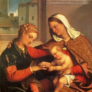 Джованни Баттиста Морони - Мистическое обручение Св. Екатерины