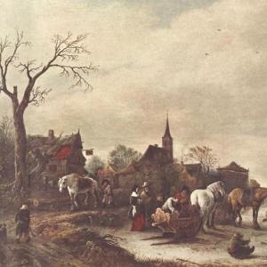 Исаак ван Остаде - Деревня зимой