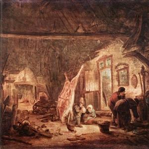 Исаак ван Остаде - Умерщвление свиньи