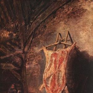 Исаак ван Остаде - Освежеванная свинья