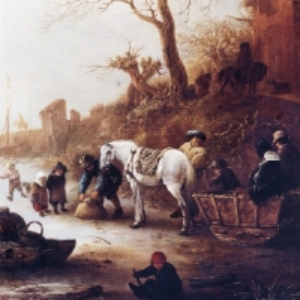 Исаак ван Остаде - На замерзшем канале