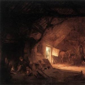 Исаак ван Остаде - Внутри сельского дома