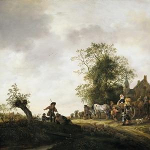 Исаак ван Остаде - Путники у таверны